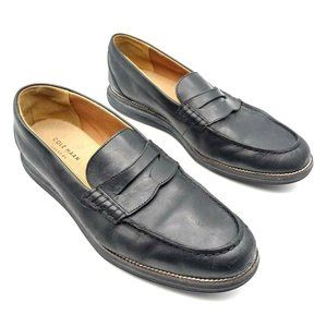 COPY - Cole Haan Mens Penny Loafers Black Moc Toe…